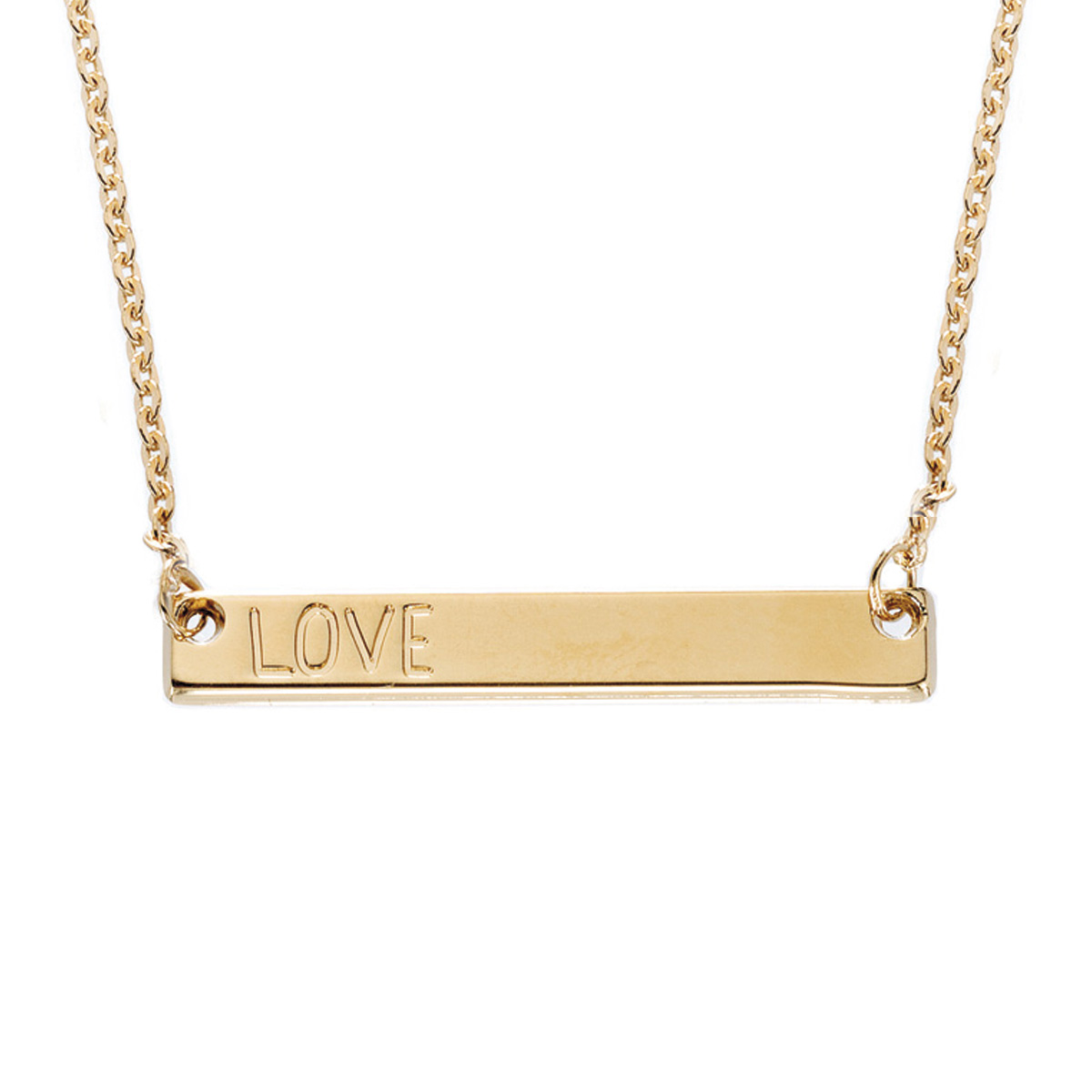 Collier plaque or love bijoux LEONE
