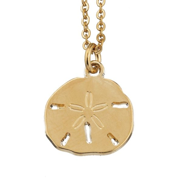 Necklace large sand dollar coin gold LEONE jewelry