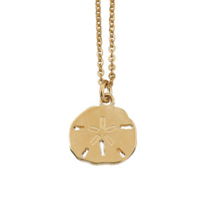 Necklace sand dollar coin gold LEONE jewelry