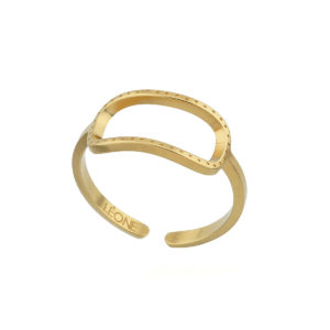 Ring open dotted gold LEONE jewelry