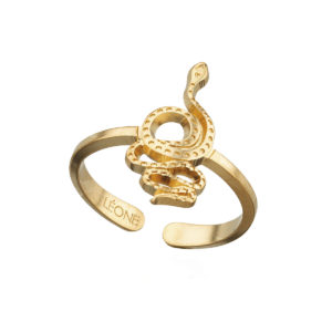 Ring snake gold LEONE jewelry