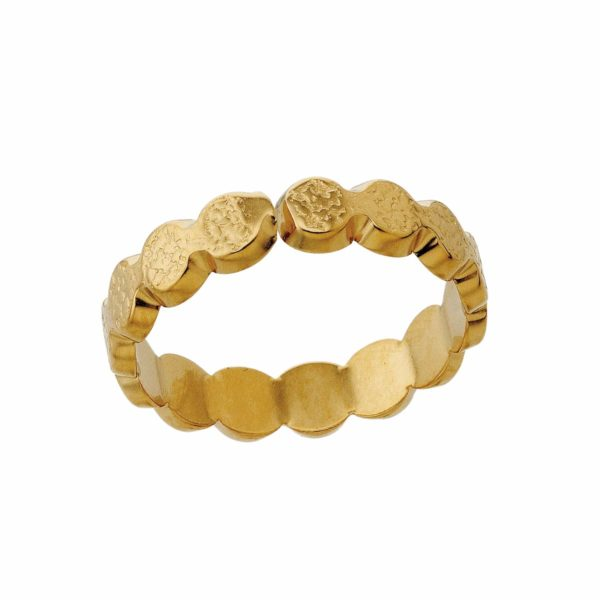 Ring round pellets gold LEONE jewelry