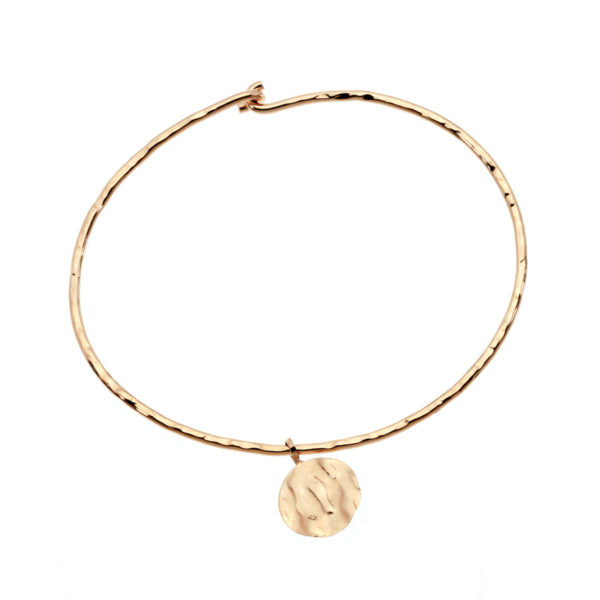Bangle hammered pastille gold LEONE jewelry