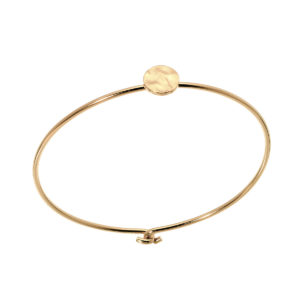 Bangle one pastille hammered gold leone Jewelry