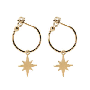 Hoops mini star gold earrings LEONE jewelry