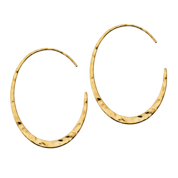 Hoops oval gold earrings LEONE jewelry
