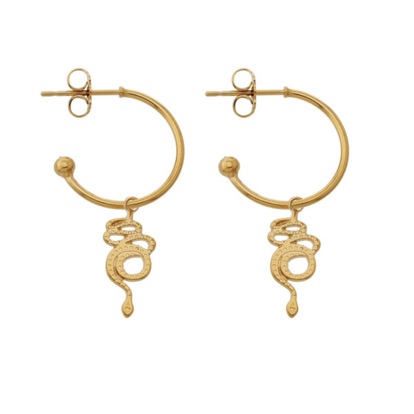 Hoops snake gold earrings LEONE jewelry