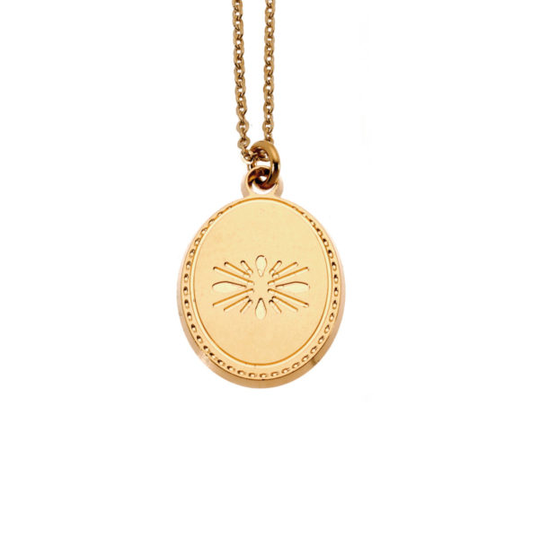 Necklace flower coin gold LEONE jewelry