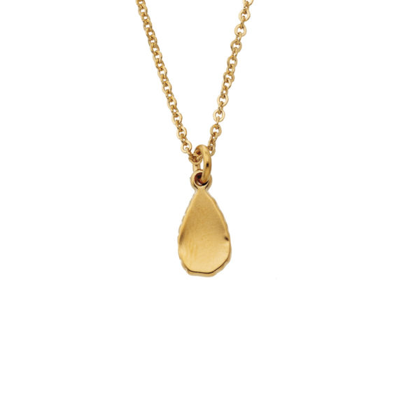 Necklace mini hammered drop gold LEONE jewelry