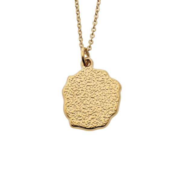 Necklace nugget coin gold LEONE jewelry