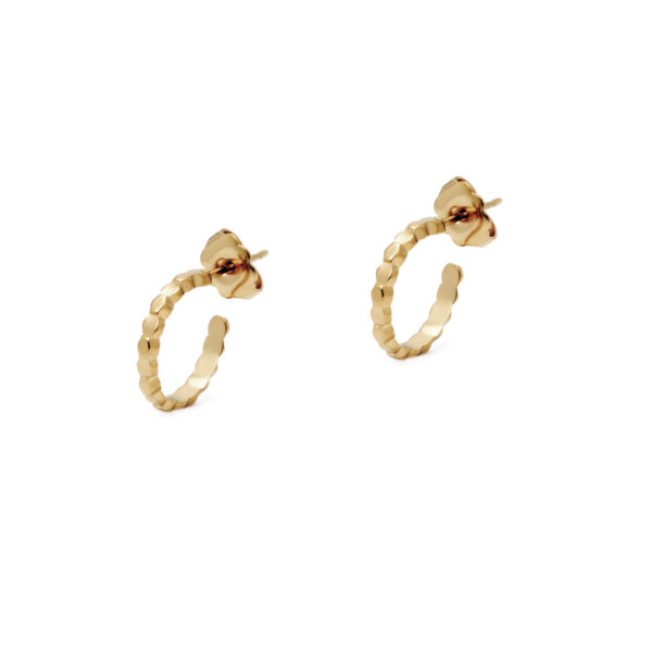 Gold mini drop hoop earrings LEONE jewelry